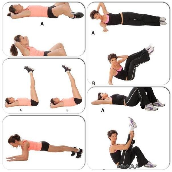 какие упражнения убирают жир на животе